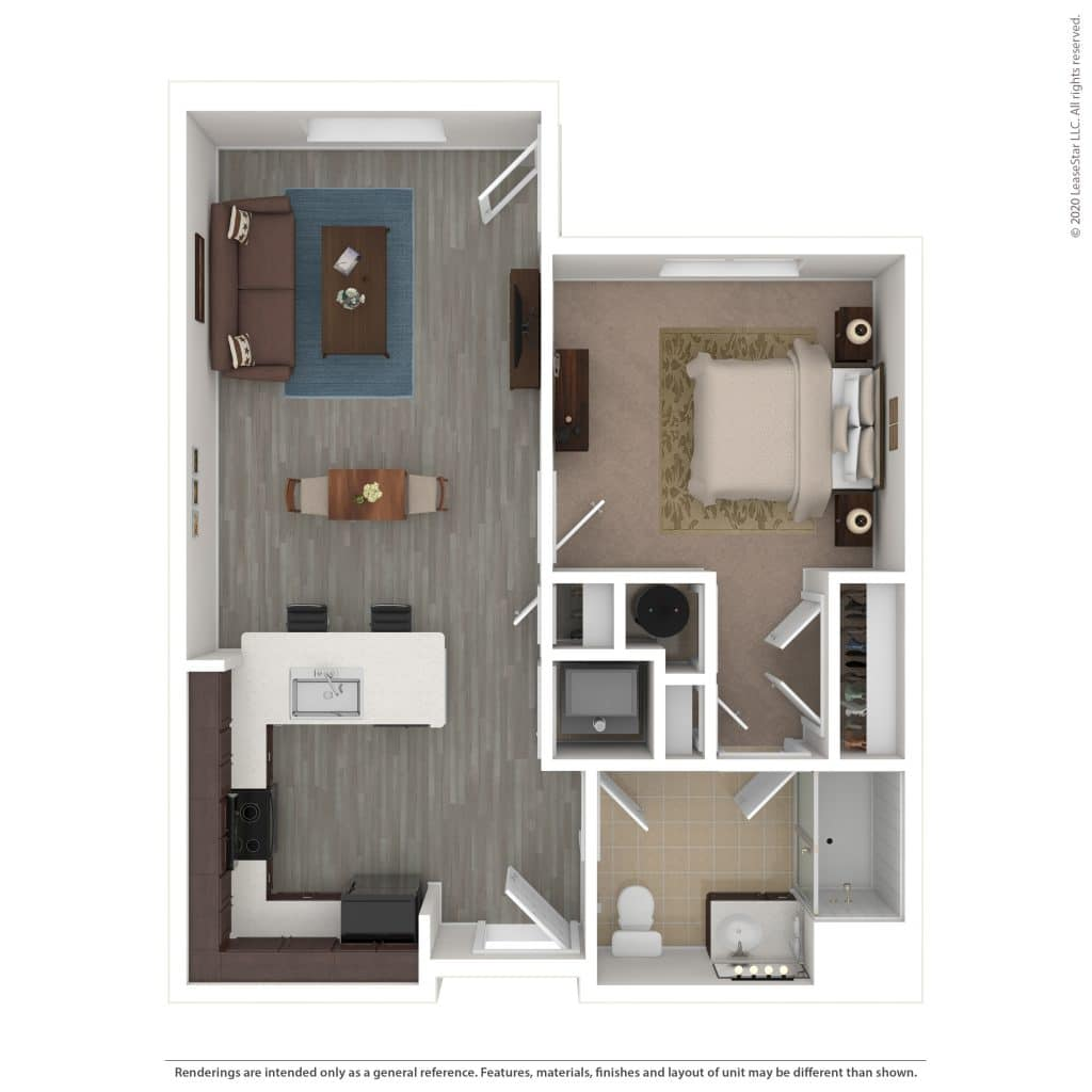 1 Bedroom | 1 Bath | 643 sq. ft. | $ Call For Pricing